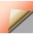 Folded up copper foil blank note paper vector image