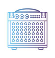 line electronic audio console to play music vector image