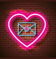 love poster with neon lights vector image