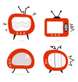 old retro tv collection vector image