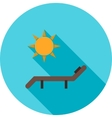 Sun Bathing vector image
