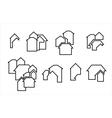 construction real estate icon vector image vector image