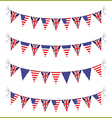 usa and uk bunting vector image vector image