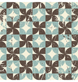Geometric seamless pattern with diamonds and vector image vector image