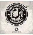 summer music festival stamp vector image
