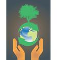 hand holding earth globe 3 vector image