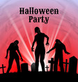 Halloween party on a spooky graveyard vector image vector image