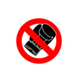 Stop boxing It is forbidden to fight Frozen Boxing vector image vector image