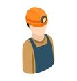 Miner isometric 3d icon vector image