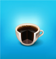 cup of coffee 4 vector image vector image