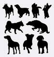 Dog pet animal silhouette 01 vector image vector image