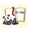 Cute panda and a book vector image