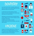 Dentistry and dentist office design template vector image