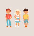 fashion kids vector image
