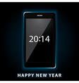 happy new year phone vector image