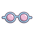 pink blue magic glasses icon cartoon style vector image
