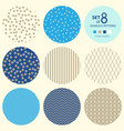 set of round geometric seamless patterns vector image