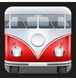 Square Icon Popular bus classic Camper Van vector image