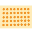 orange stars vector image