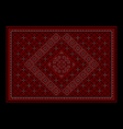 Maroon luxurious oriental carpet with ornament vector image
