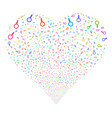 search fireworks heart vector image
