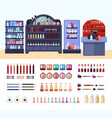health and beauty store composition vector image