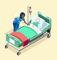 medical black nurse talking with patient vector image