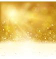 Abstract golden background with lights vector image vector image