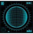 radar screen digital vector image vector image