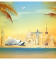 Wonders Of The World vector image
