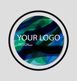 abstract colorful background logo that overlap and vector image