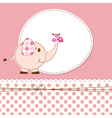 Baby shower with elephant vector image
