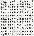 Japanese hieroglyphs background vector image