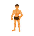male bodybuilder vector image