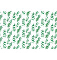 seamless pattern with watercolor leaves vector image