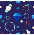 Woman Fashion Seamless Pattern with Jewelry vector image vector image