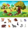 Woodland Animals Concept vector image