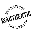 Inauthentic rubber stamp vector image vector image