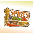 logo of spices vector image