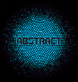 futuristic abstract background with blue mosaic vector image