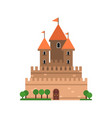 ancient stone castle medieval architecture vector image