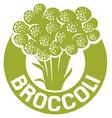 broccoli symbol vector image vector image