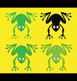 cartoon frog silhouette vector image