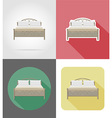 furniture flat icons 36 vector image