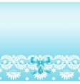 Lace border with bow vector image