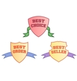 Product labels template goods badges vector image