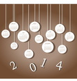 Calendar for 2014 year vector image vector image