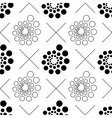 seamless pattern with dots and circles vector image