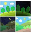 Set of summer landscape vector image