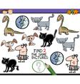 preschool task for kids vector image vector image